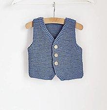 Detské oblečenie - Pletená vesta pre chlapčeka - 13012664_