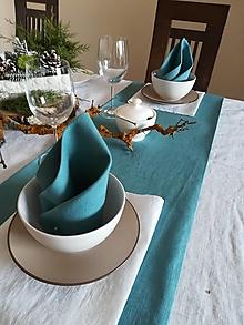 Úžitkový textil - Ľanové štóly / obrúsky - 13011350_