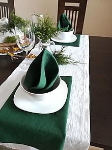 Úžitkový textil - Ľanové štóly / obrúsky - 13013970_