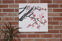 Obrazy - Obraz SAKURA Japonská čerešňa akryl na plátne 50 X 50 cm - 13011900_