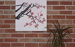 Obrazy - Obraz SAKURA Japonská čerešňa akryl na plátne 50 X 50 cm - 13011901_