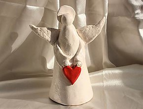 "Dekorácie - Keramický anjel ""Chamuel"" - 13011291_"