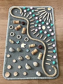 Detské doplnky - Senzomotorický koberec Mint Wave - 13014333_
