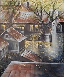 Obrazy - Jeseň vo dvore - 13012641_