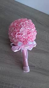 Dekorácie - Kytica saténových ruží - 13011743_