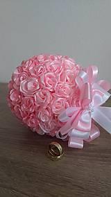 Dekorácie - Kytica saténových ruží - 13011750_