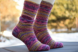 Obuv - s pavej ponožkovej 6- nitky - Magic ( v.40-41) - 13012725_