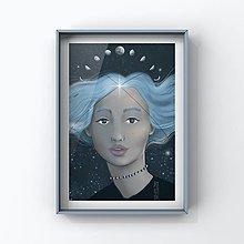 Grafika - Print-Mesačný svit - 13010825_