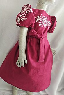 Detské oblečenie - Ručne maľované šaty - 13010710_