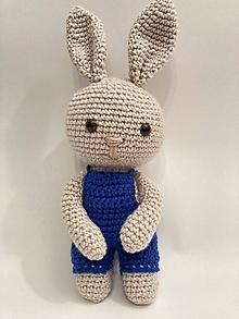 Hračky - Hačkovaný zajko / zajac/ - 13013412_
