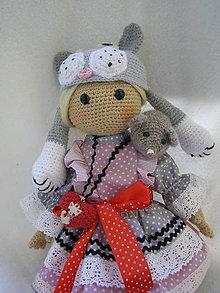 """Hračky - háčkovaná """"mačičková"""" bábika - 13015729_"""