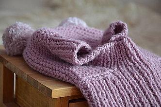 Detské čiapky - Detská čiapka - kukla (Staroružová  2 - 3 roky) - 13015849_