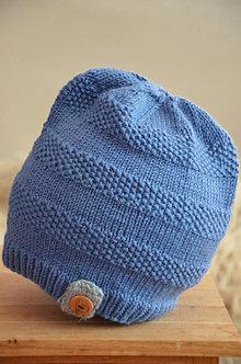 Čiapky - Pletená čiapka - 13016619_