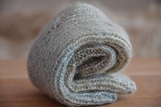 Obuv - Ponožky detské, melírované 12 cm - 13016828_