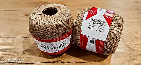 Galantéria - Maxi Metallic (Maxi Metallic 2103 - starozlatá + zlatá) - 13016160_