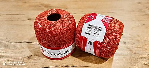 Galantéria - Maxi Metallic (Maxi Metallic 26328 - červená + zlatá) - 13016162_