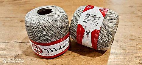 Galantéria - Maxi Metallic (Maxi Metallic 1621 - sivá + strieborná) - 13016170_