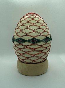 Dekorácie - Opletaná NANDU kraslica v červenom šate - 13017843_