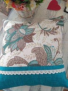Úžitkový textil - Vankúš tyrkys - 13016370_