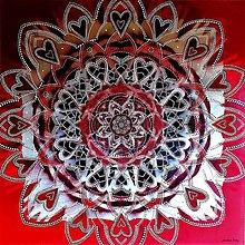 Obrazy - MANDALA LÁSKY❤️darovaná z lásky❤️originálny darček - 13018121_