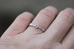 Prstene - Vetvičkový strieborný s tanzanitom - 13015454_