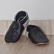 Obuv - Obuv pre dospelých - kožené capačky - papuče zateplené - 13018934_