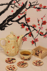 Obrazy - Obraz SAKURA Japonská čerešňa akryl na plátne 50 X 50 cm - 13014894_