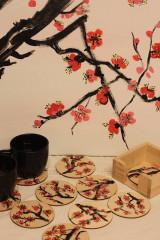 Obrazy - Obraz SAKURA Japonská čerešňa akryl na plátne 50 X 50 cm - 13014896_