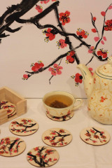 Obrazy - Obraz SAKURA Japonská čerešňa akryl na plátne 50 X 50 cm - 13014901_