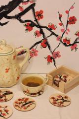 Obrazy - Obraz SAKURA Japonská čerešňa akryl na plátne 50 X 50 cm - 13014906_