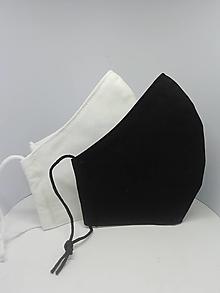"""Rúška - Bavlnené rúška """"čierne/biele"""" - 13014615_"""