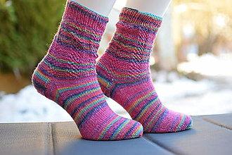 Obuv - s pravej ponožkovej 4- nitky - PINK (v.38-39) - 13018486_