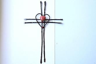 Dekorácie - tepaný krížik *19 cm - 13015158_