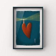 Grafika - Print-ostrov lásky - 13017960_