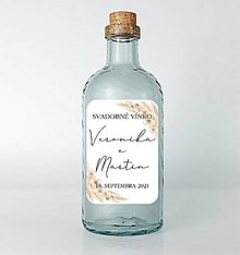 Papiernictvo - Nálepky na svadobné fľaše prírodné - 13022140_