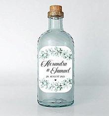 Papiernictvo - Nálepky na svadobné fľaše eukalyptus - 13022147_