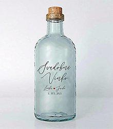 Papiernictvo - Nálepky na svadobné fľaše transparentná 1 - 13022186_