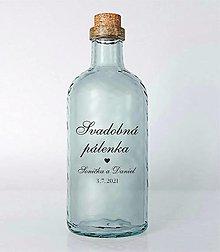 Papiernictvo - Nálepky na svadobné fľaše transparentná 2 - 13022196_