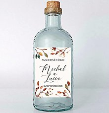 Papiernictvo - Nálepky na svadobné fľaše bavlník 2 - 13022654_