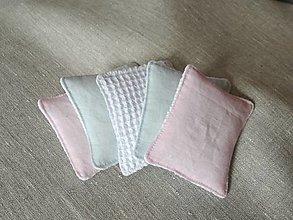 Úžitkový textil - Ľanové odličovacie tampóny - 13023853_