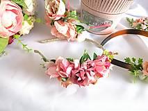 Ozdoby do vlasov - Kvetinová čelenka - 13023479_