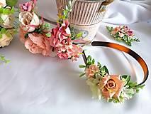 Ozdoby do vlasov - Kvetinová čelenka - 13023507_