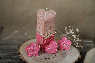 Svietidlá a sviečky - Žiarivá darčeková krabička - SRDCE - 13020517_