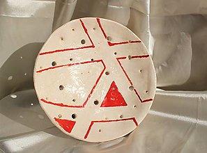 """Nádoby - Keramický tanier """"Geometria"""" - 13020268_"""