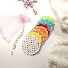 """Úžitkový textil - Odličovacie tampóny """"Párty"""" - ZERO WASTE (s vrecúškom) 7 ks / froté - 13021939_"""