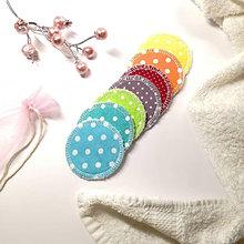 """Úžitkový textil - Odličovacie tampóny """"Dúha"""" - ZERO WASTE (s vrecúškom) 7 ks / froté - 13022249_"""