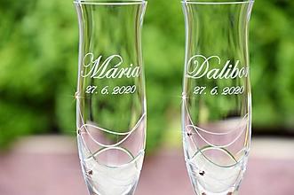 Nádoby - Ava - svadobné poháre - 2ks - 13024101_