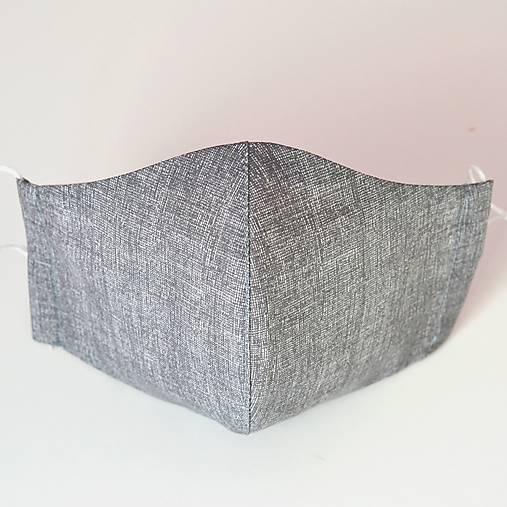 ŠEDÉ REŽNÉ rúško so striebrom dvojité na filter