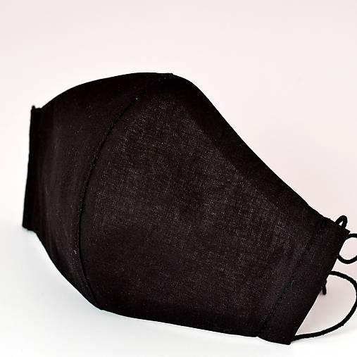 ČIERNE rúško so striebrom dvojité na filter - 4 veľkosti