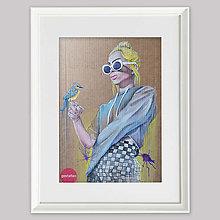 Grafika - Girl with a bird grafika - 13024158_